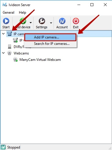 How to connect an IP camera to Ivideon Server? | Ivideon